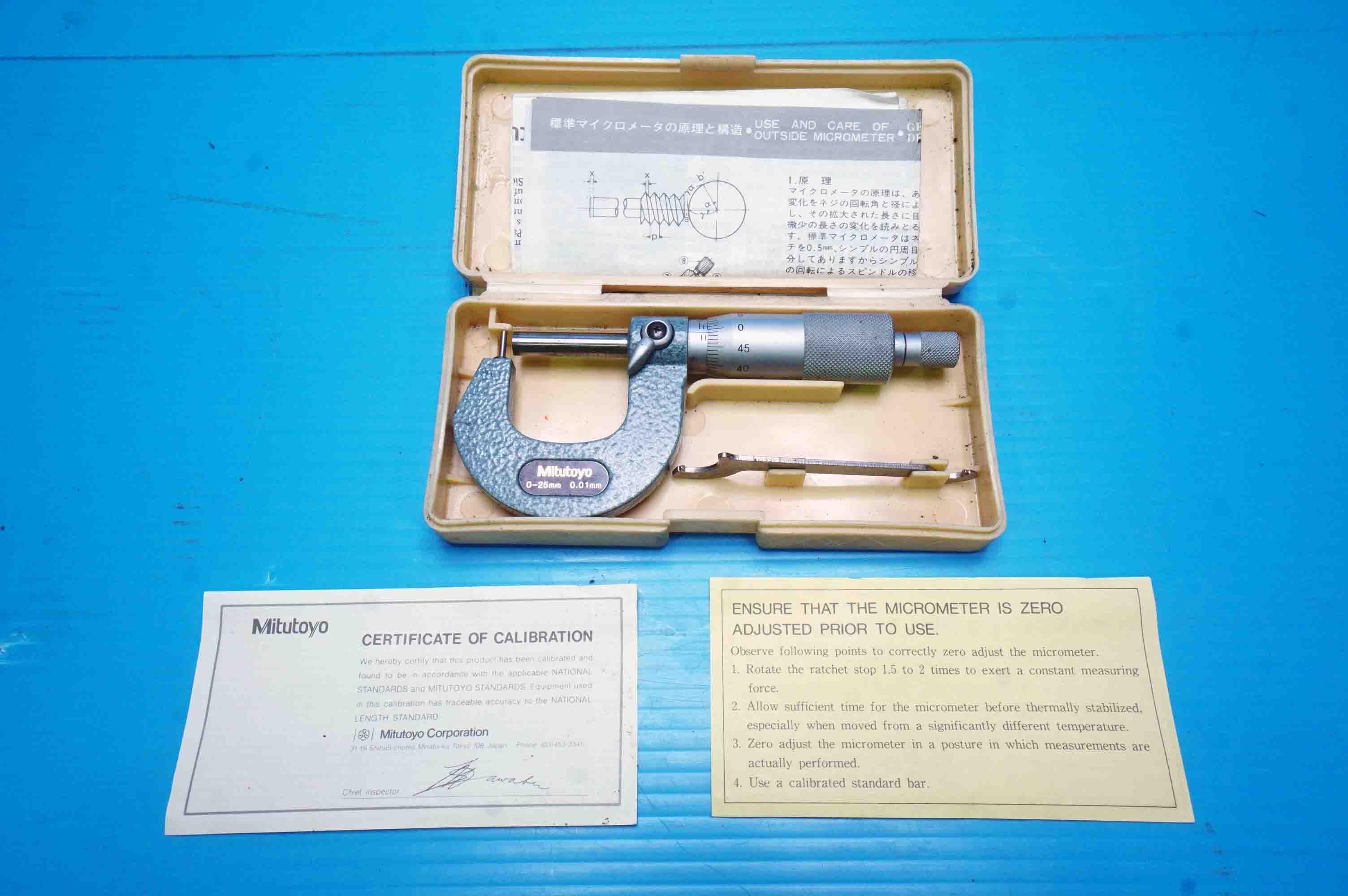 棒球面マイクロメータ ミツトヨ BMB1-25(890527KIY-20-13)の画像